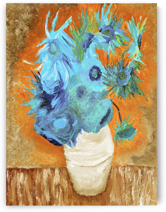 Blue Sunflowers v2 by Darnell Clayton