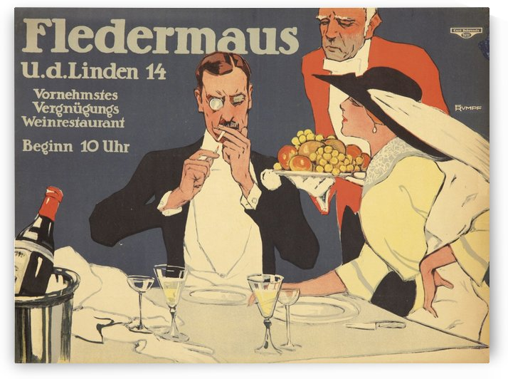 Fledermaus by VINTAGE POSTER