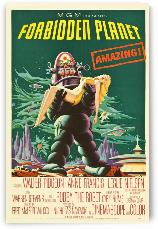 Forbidden Planet by VINTAGE POSTER