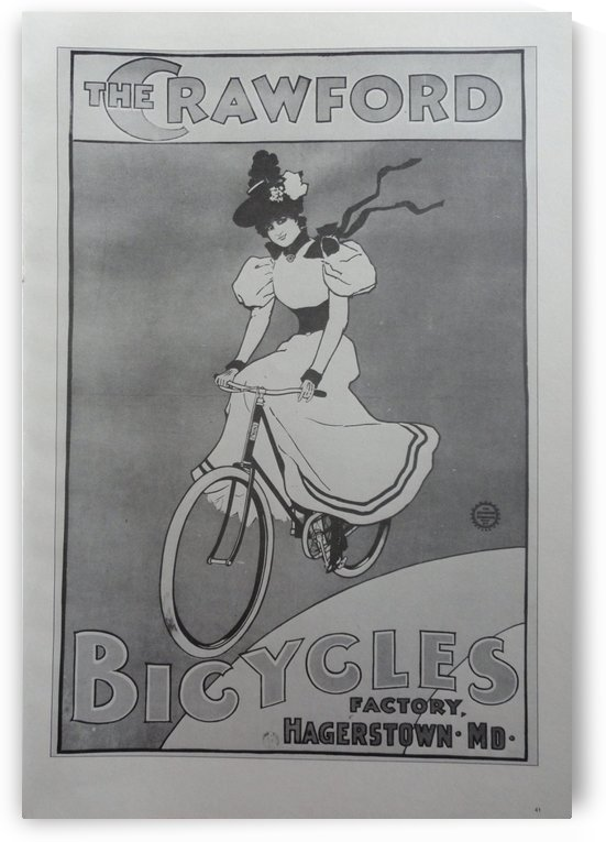 The Crawford Bicycles by VINTAGE POSTER
