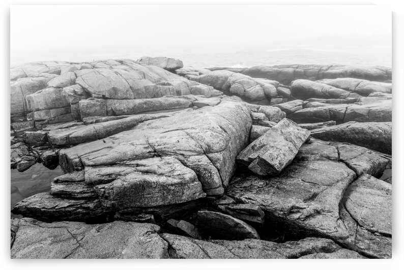 Granite Boulders ap 2280 B&W by Artistic Photography