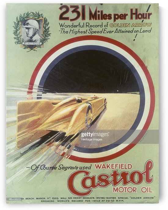 231 Miles per hour by VINTAGE POSTER