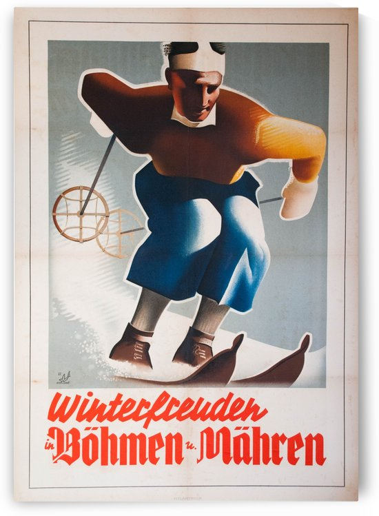 Winterfreuden in Boehmen by VINTAGE POSTER