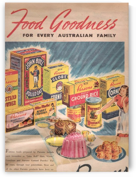 Food Goodness by VINTAGE POSTER