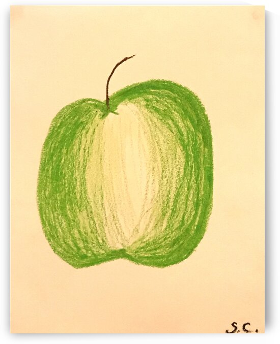 Green apple by Susan C