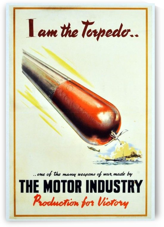 I am the Torpedo by VINTAGE POSTER