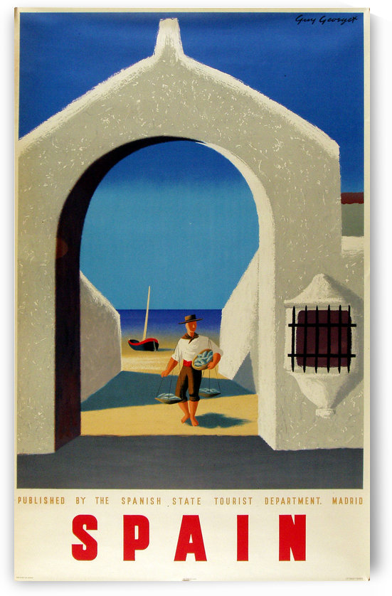 Spain fisherman by VINTAGE POSTER