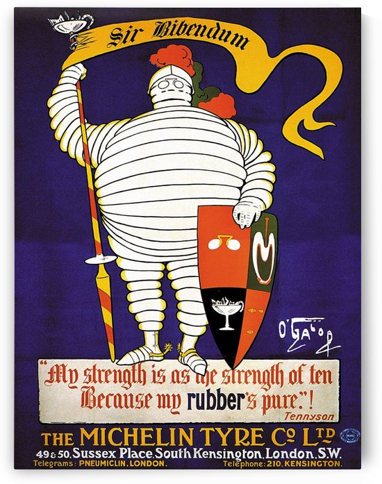 Michelin Sir Bibendum by VINTAGE POSTER