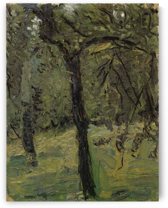 Sunny Meadow with fruit trees by Richard Gerstl by Richard Gerstl