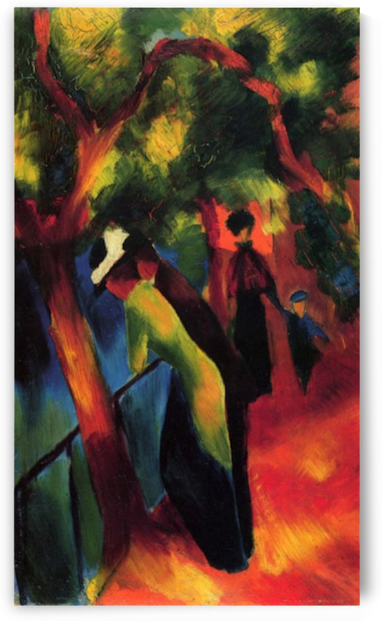 Sunny way by August Macke by August Macke