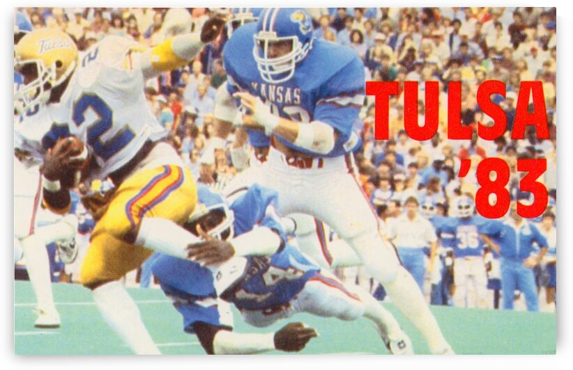 1983 University of Tulsa Football Poster by Row One Brand