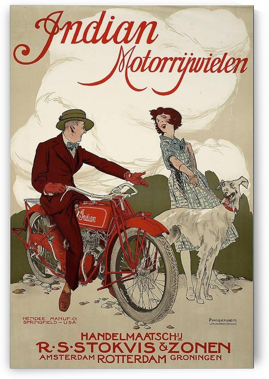 Indian Motorcycles by VINTAGE POSTER