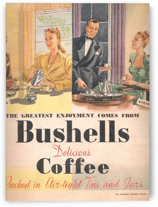 Delicious coffee by VINTAGE POSTER