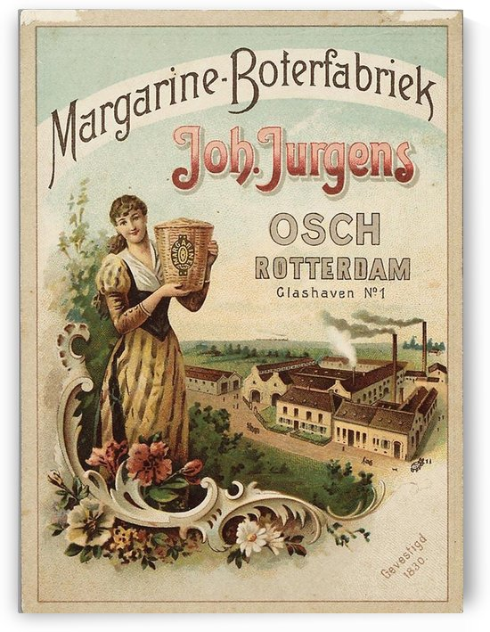 Margarine Boterfabriek by VINTAGE POSTER