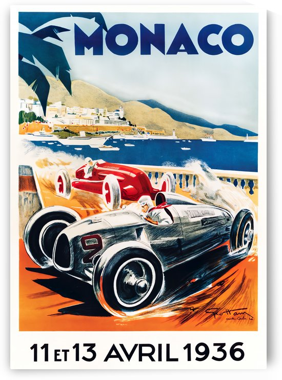 Monaco April 1936 by VINTAGE POSTER