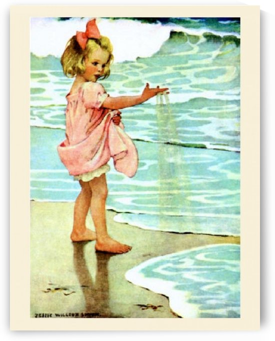 Girl at the sea by VINTAGE POSTER