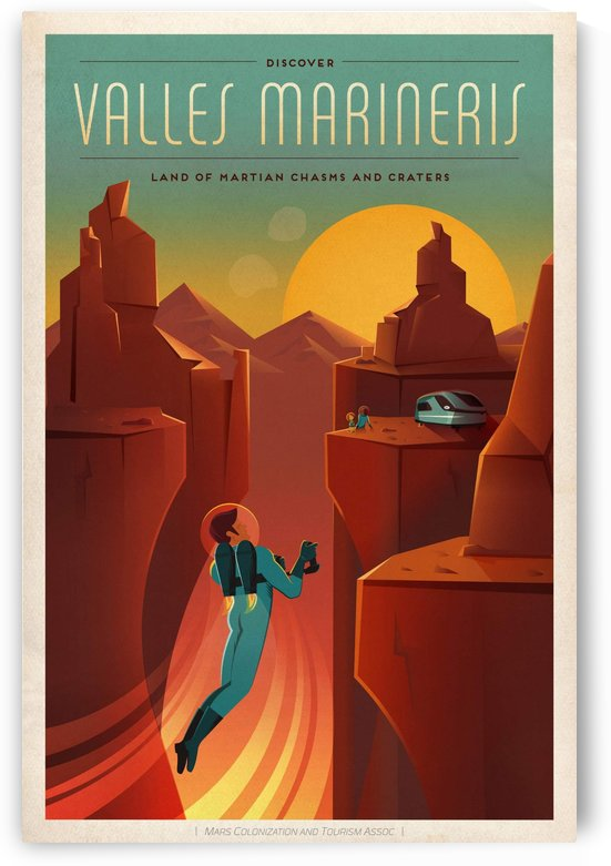 Valles marineris by VINTAGE POSTER