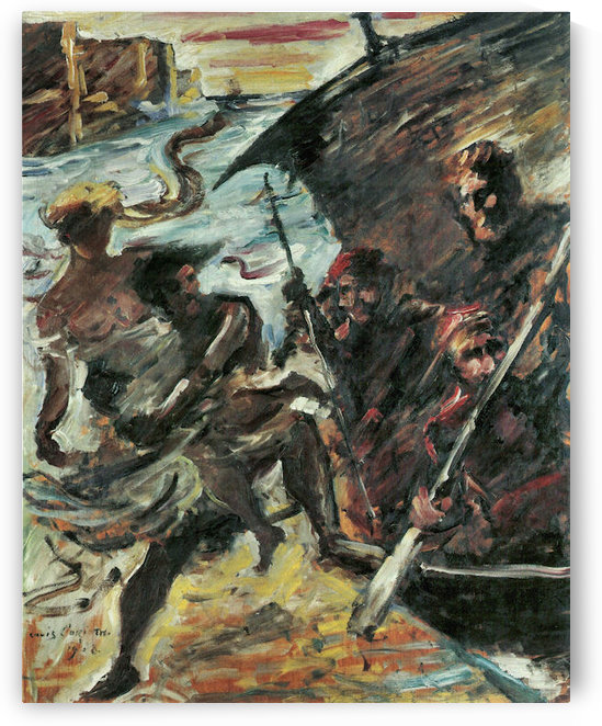 Rape of a woman by Lovis Corinth by Lovis Corinth