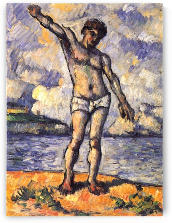 Swimmer with outstretched arms by Cezanne by Cezanne