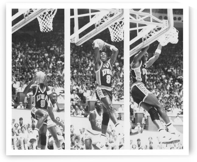 1984 Michael Jordan Team USA Dunk Poster by Row One Brand