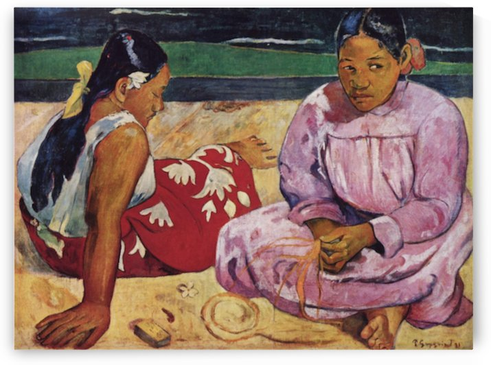 Tahitian Women on Beach by Gauguin by Gauguin