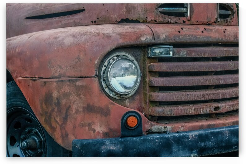 Old Headlight and Grill by Darryl Brooks