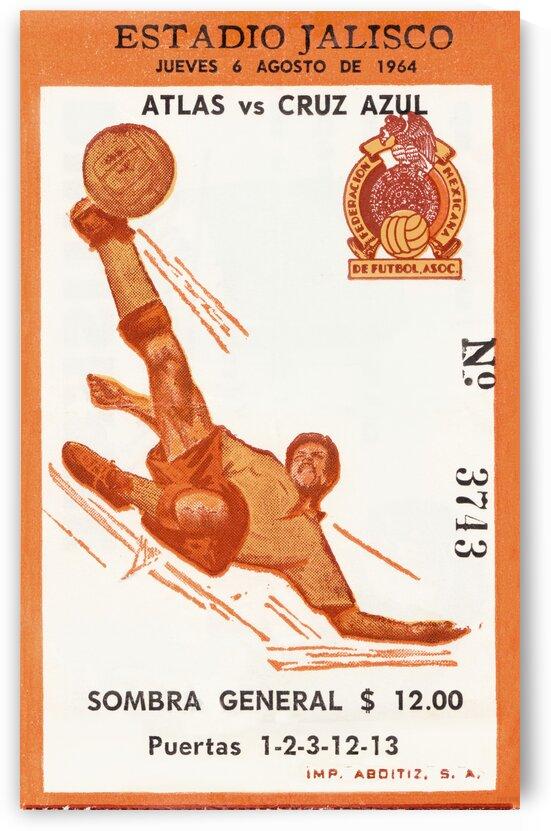 1964 Mexico Soccer Atlas vs. Cruz Azul Estadio Jalisco by Row One Brand