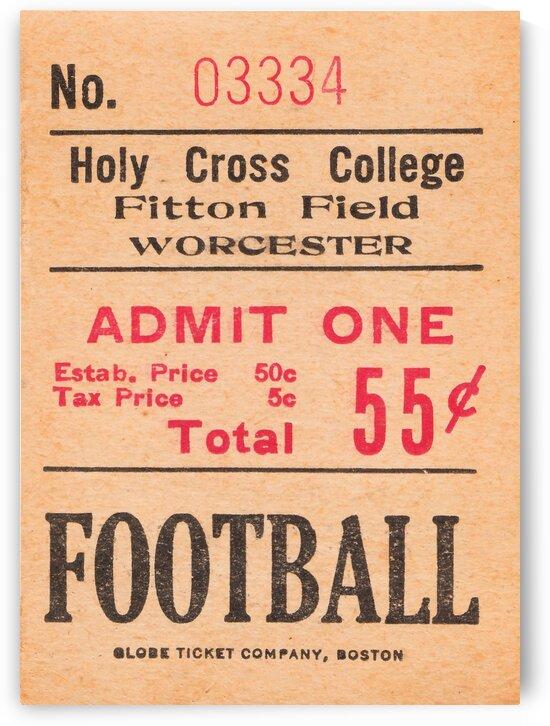 1938 Holy Cross Football Ticket Stub Art by Row One Brand