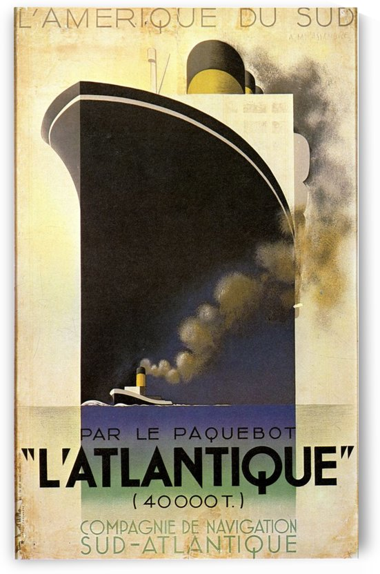 L'Atlantique by VINTAGE POSTER