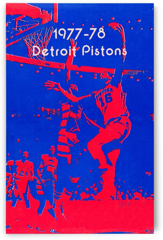 1977 Detroit Pistons Basketball Poster by Row One Brand