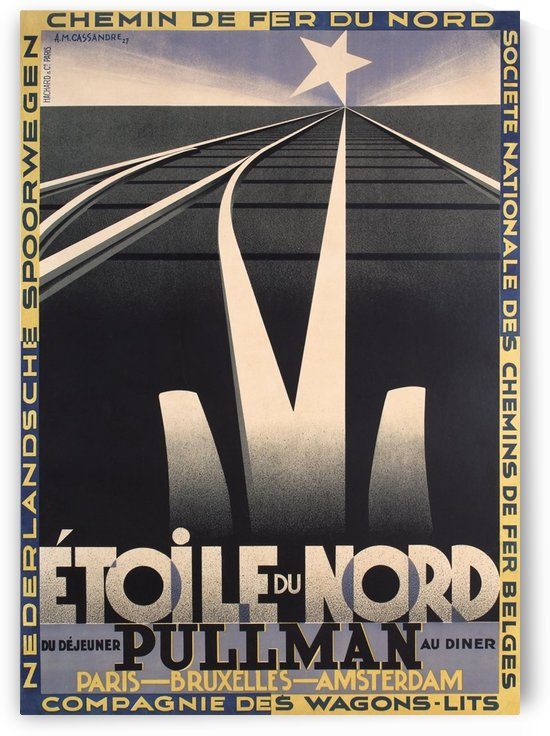 Etoile du Nord by VINTAGE POSTER