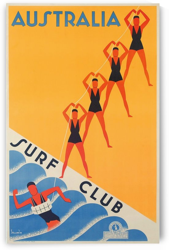 Surf Club by VINTAGE POSTER