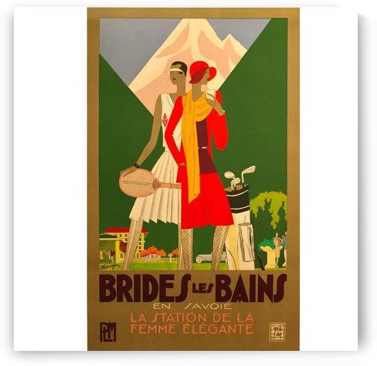 Brides Les Bains by VINTAGE POSTER
