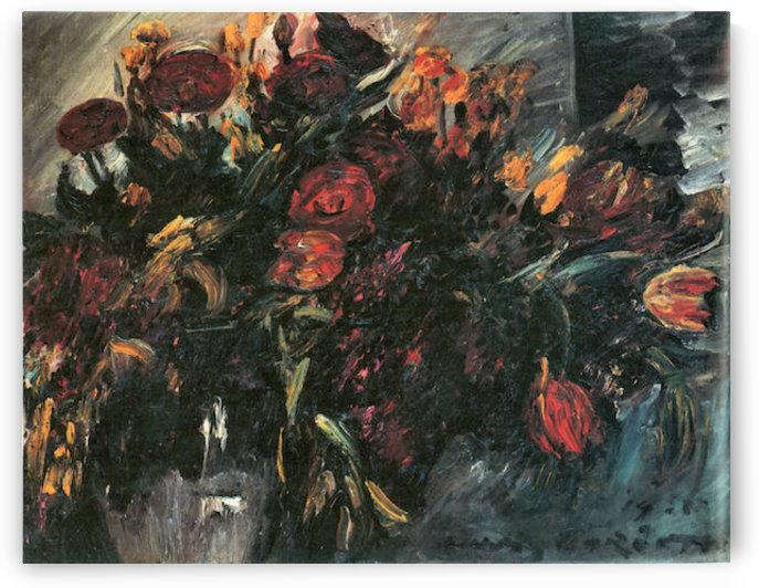 Red and yellow tulips by Lovis Corinth by Lovis Corinth