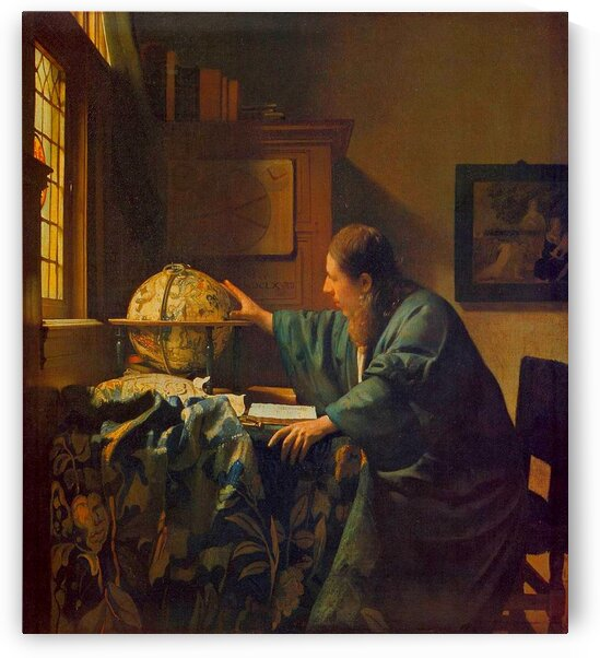 Johannes Vermeer: The Astronomer - HD 300ppi by Stock Photography
