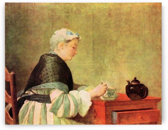 Tea Drinker by Jean Chardin by Jean Chardin