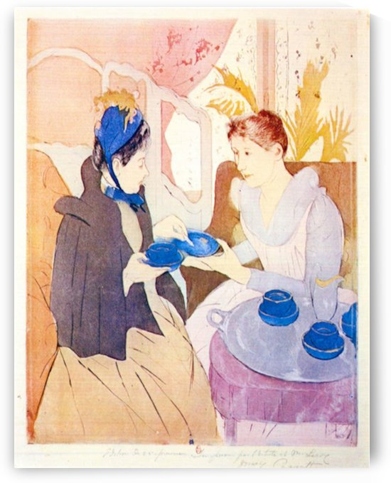 Tea in the afternoon by Cassatt by Cassatt