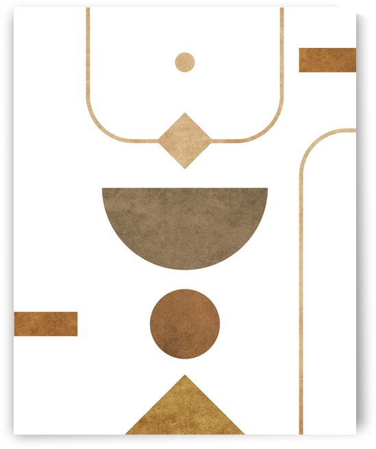 Subtle Opulence - Contemporary Minimalist Abstract in White 2 by Cosmic Soup