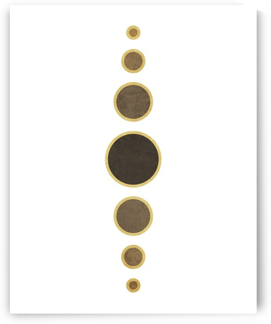 String Of Pearls 1 - Minimal Geometric Abstract in White by Cosmic Soup