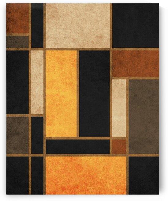 Geometrie a la Mondrian - Modernist Geometric Abstract 3 by Cosmic Soup