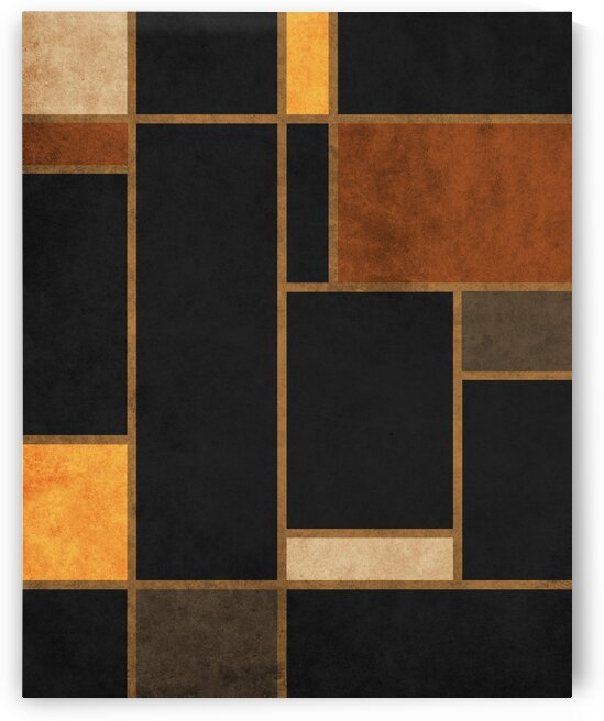 Geometrie a la Mondrian - Modernist Geometric Abstract 1 by Cosmic Soup