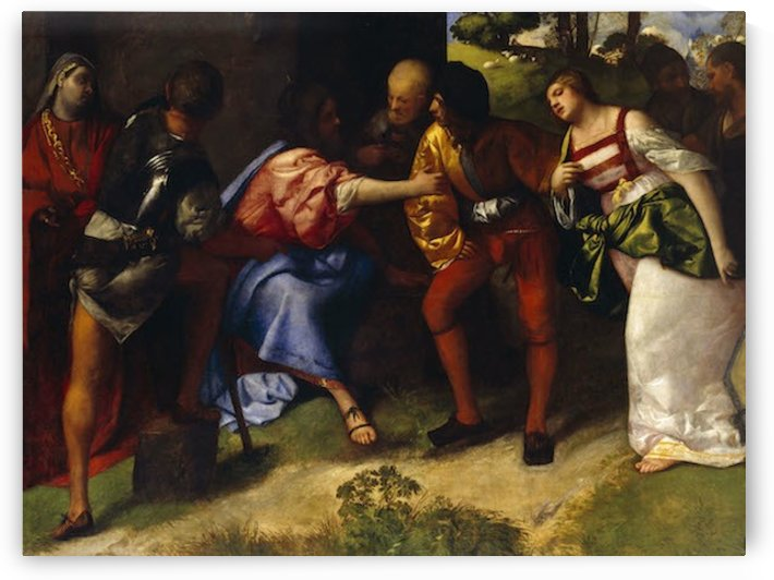 The Adultress before Christ by Titians by Titians