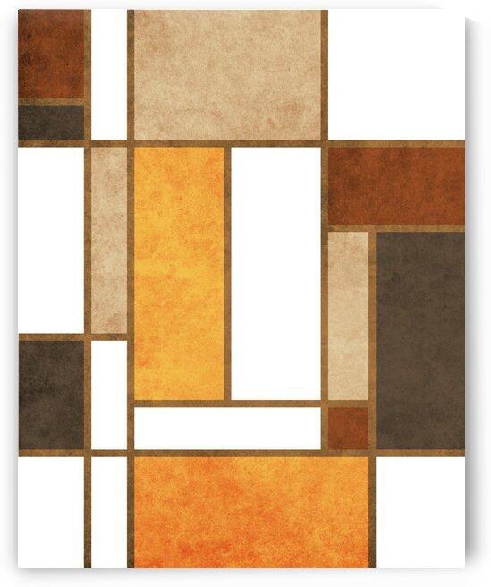 Geometrie a la Mondrian - Modernist Geometric Abstract 6 by Cosmic Soup