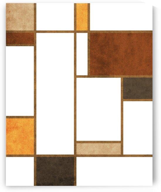 Geometrie a la Mondrian - Modernist Geometric Abstract 4 by Cosmic Soup