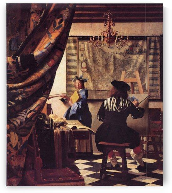 The Allegory of Painting by Vermeer by Vermeer