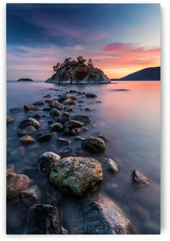 Rock Hopping at High Tide by Pierre Leclerc Photography