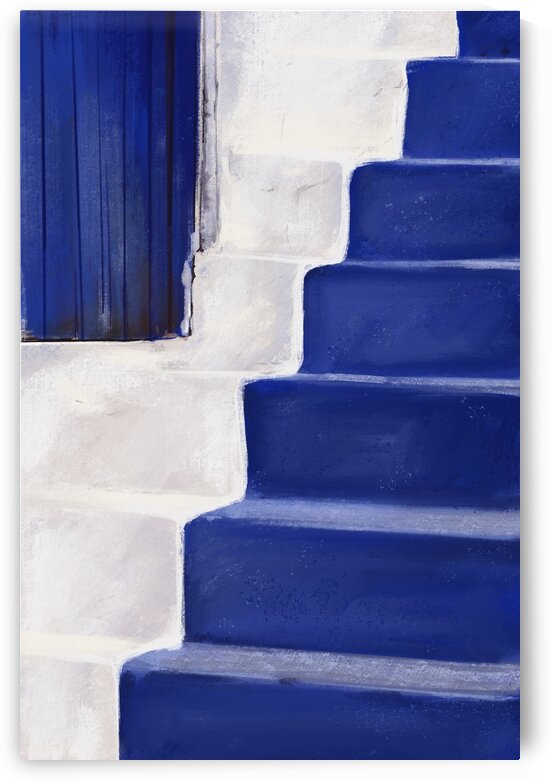 Azure Stairs - Santorini - Greece by Cosmic Soup
