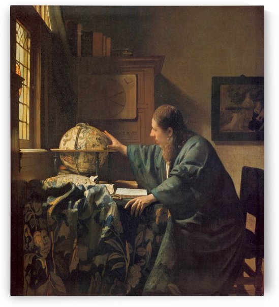 The astronomer by Vermeer by Vermeer