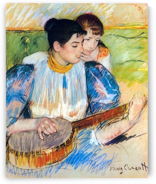 The banjo lesson by Cassatt by Cassatt