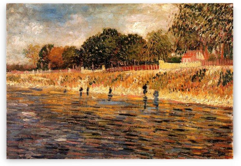 The Banks of the Seine by Van Gogh by Van Gogh